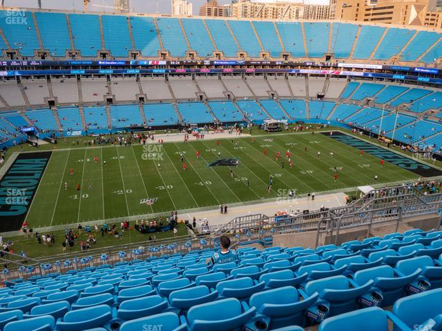 Bank of America Stadium Section 544 view