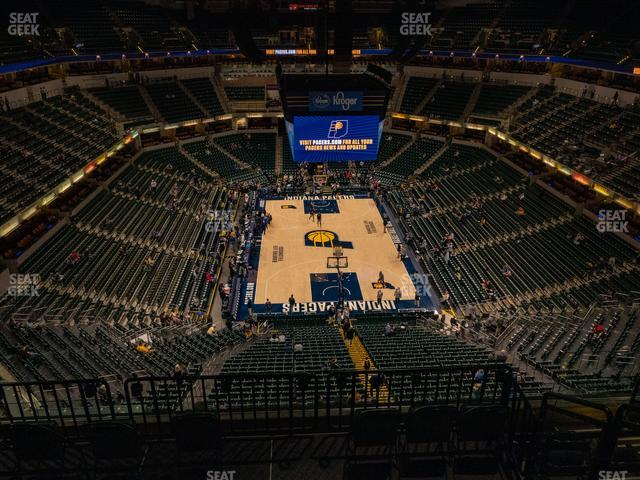 Bankers Life Fieldhouse Section 201 view