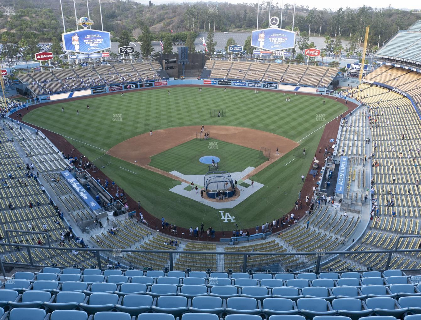 Los Angeles Dodgers at Dodger Stadium Section Top Deck 3 View