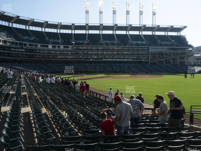 Progressive Field Section 117 view