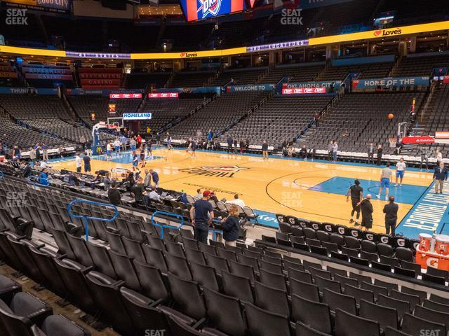 Chesapeake Energy Arena Section 114 view