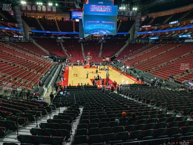 Toyota Center Section 101 view