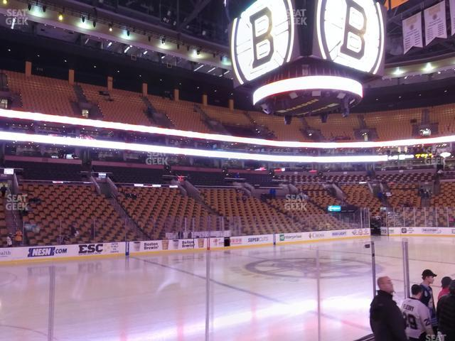 TD Garden Section Loge 3 view