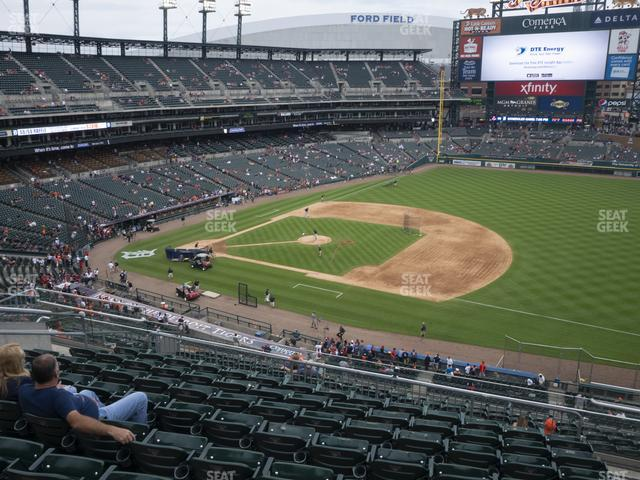 Comerica Park Section 218 view