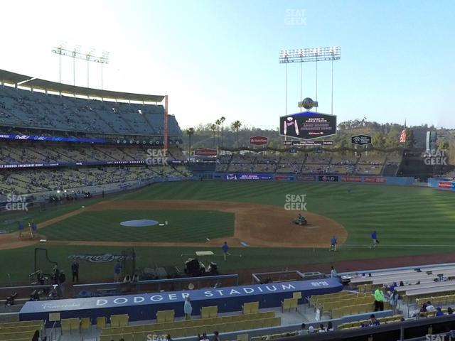 Dodger Stadium Loge Box 132 view