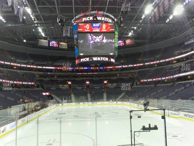 Capital One Arena Section 105 view