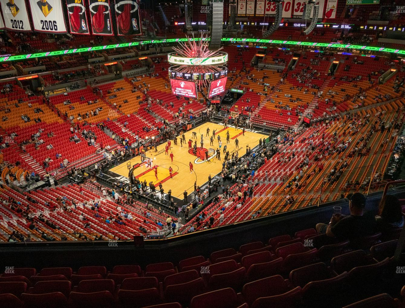 american airlines arena section 412 seat views | seatgeek