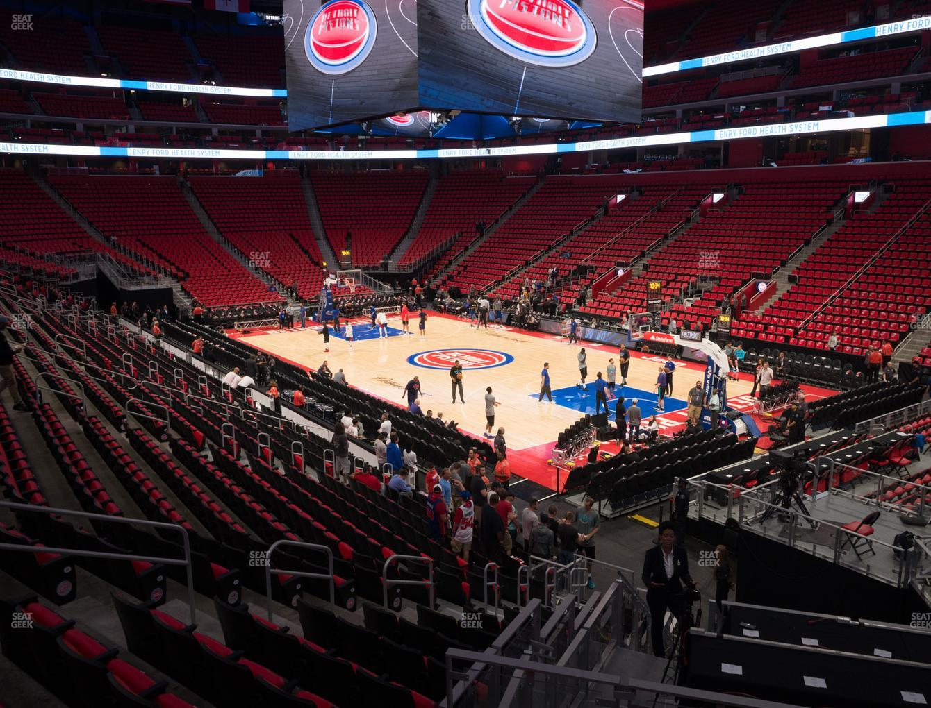 Detroit Pistons at Little Caesars Arena Section 105 H View
