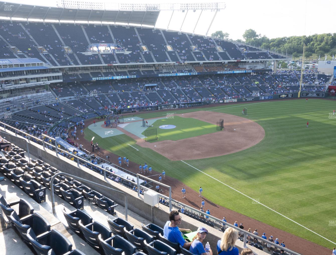 Kansas City Royals at Kauffman Stadium Section 437 View