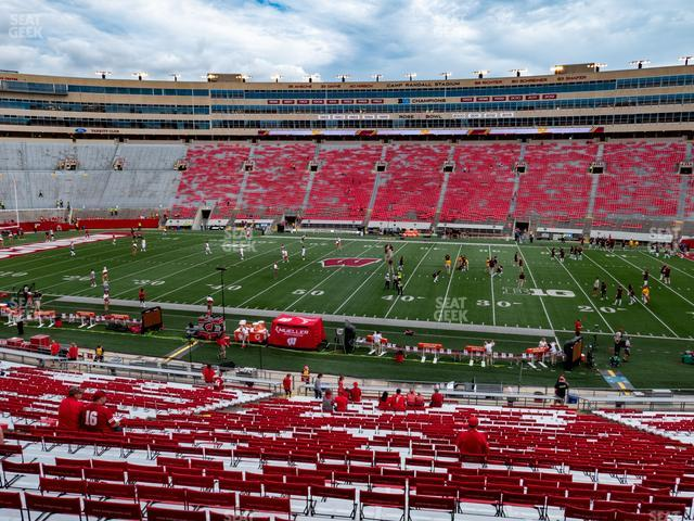 Camp Randall Stadium Section D view