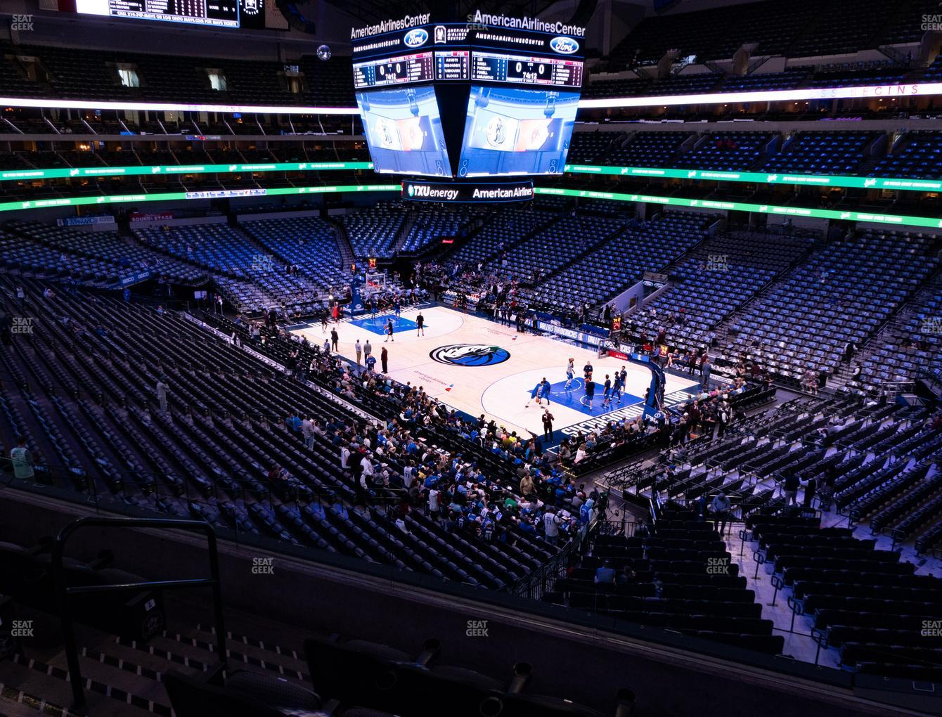 Dallas Mavericks at American Airlines Center Section 205 View