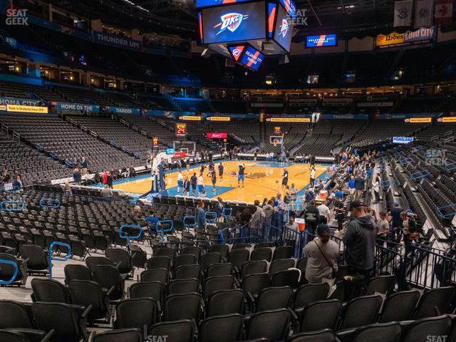 Chesapeake Energy Arena Section 119 view