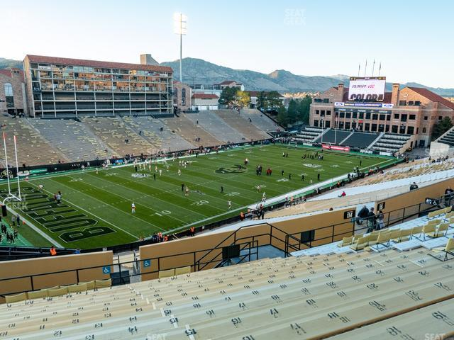 Folsom Field Section 214 view