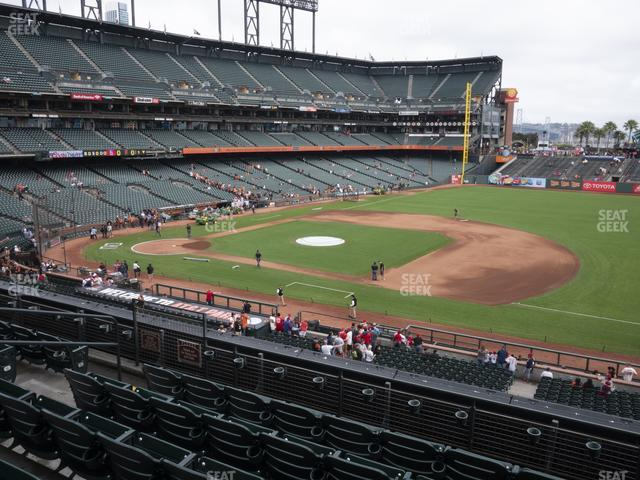 Oracle Park Section 205 view