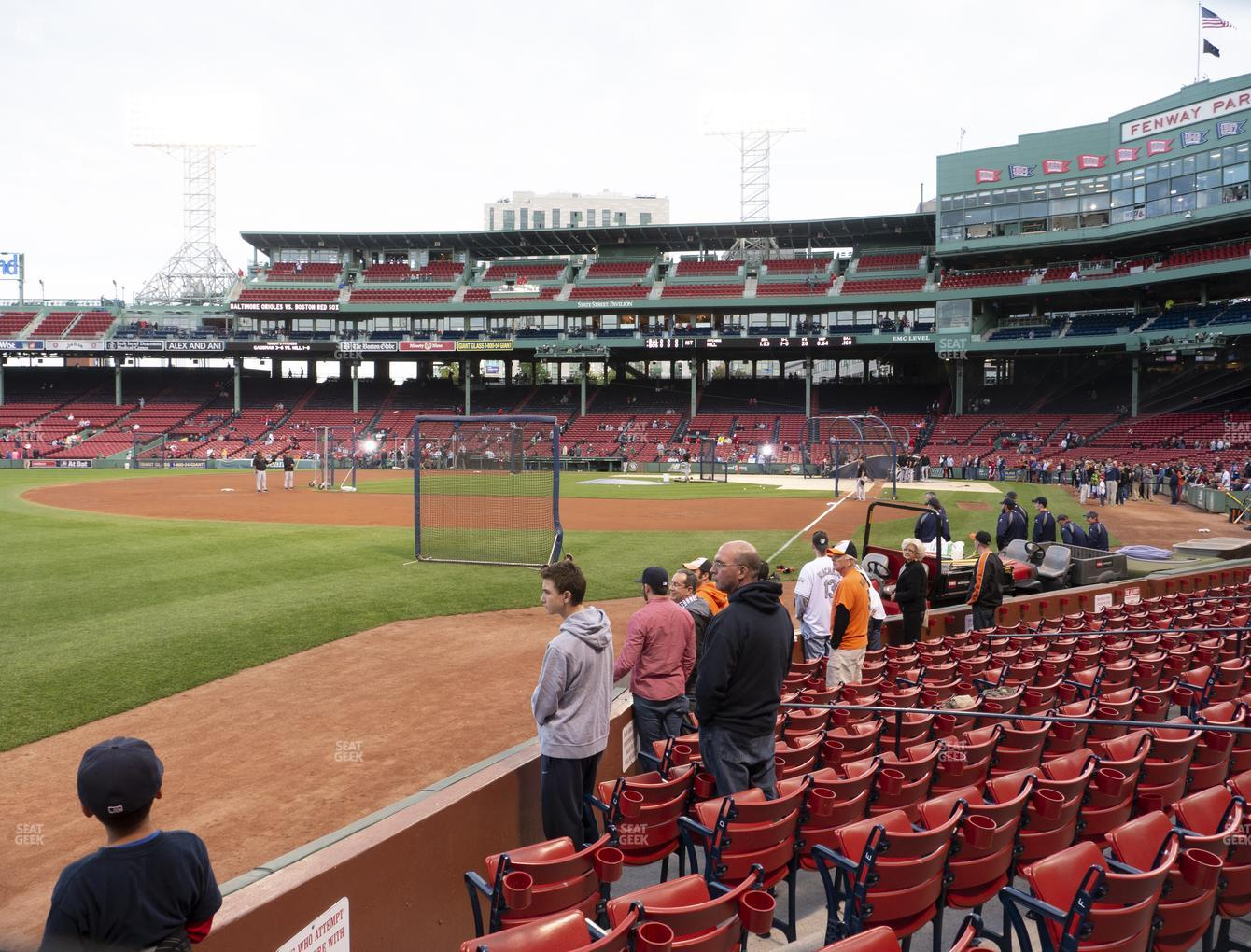 Boston Red Sox at Fenway Park Field Box 82 View