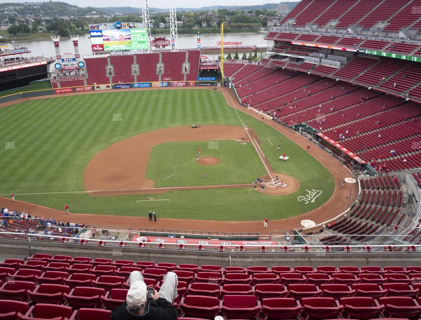 Cincinnati Reds at Great American Ball Park Section 518 View