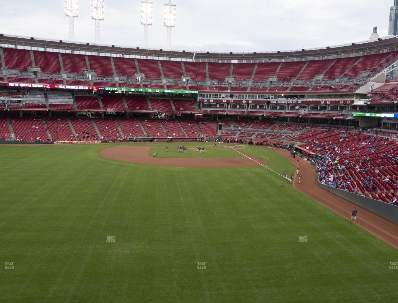 Cincinnati Reds at Great American Ball Park Section 404 View