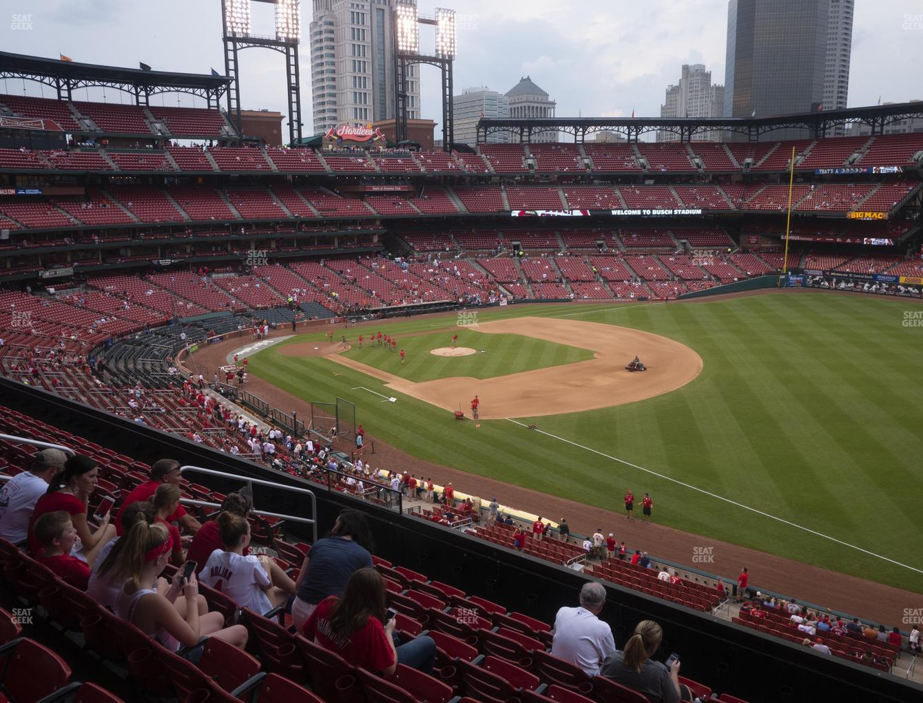 St. Louis Cardinals at Busch Stadium Right Field Loge 235 View