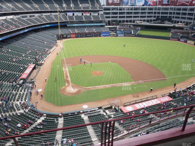Globe Life Park Section 330 view