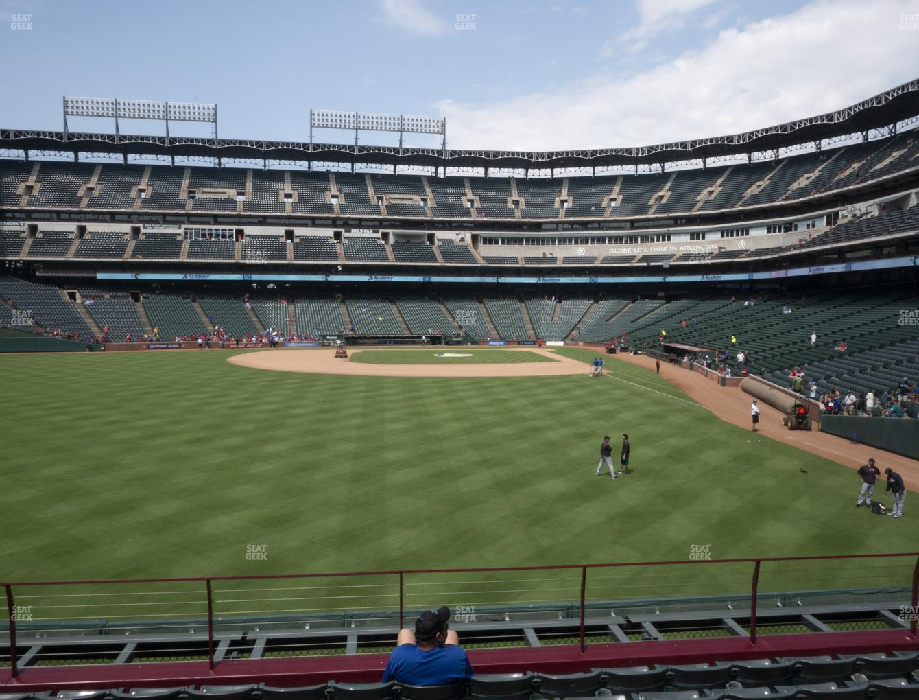 Texas Rangers at Globe Life Park Section 6 View