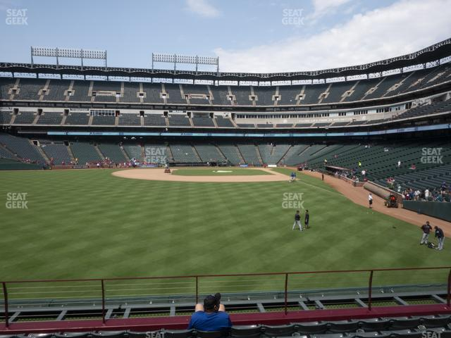 Globe Life Park Section 6 view