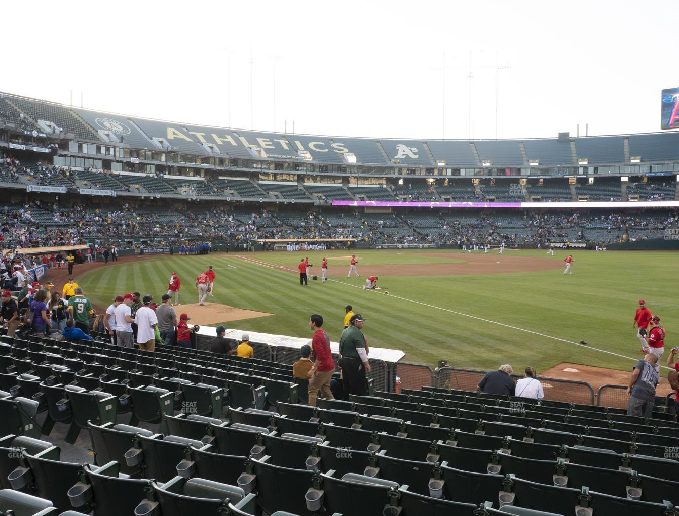 Oakland Athletics at RingCentral Coliseum Section 105 View