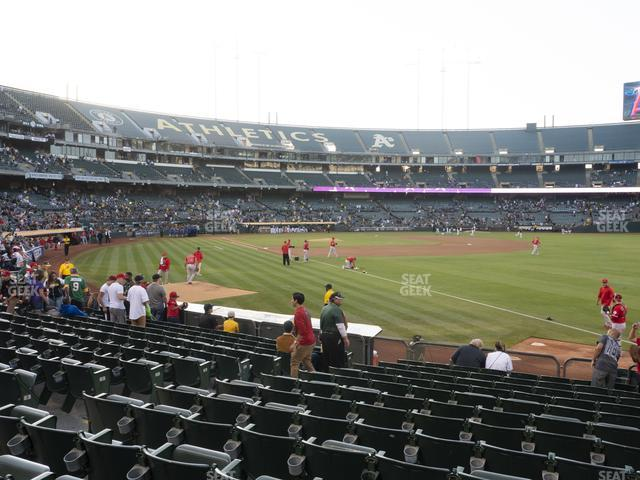 Oakland-Alameda County Coliseum Section 105 view
