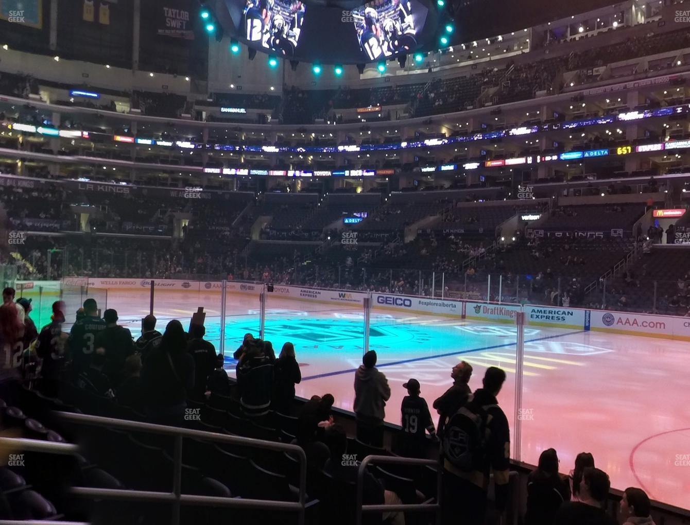 Los Angeles Kings at Staples Center Section 118 View