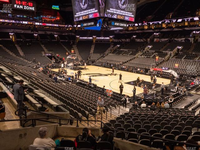AT&T Center Section 104 view