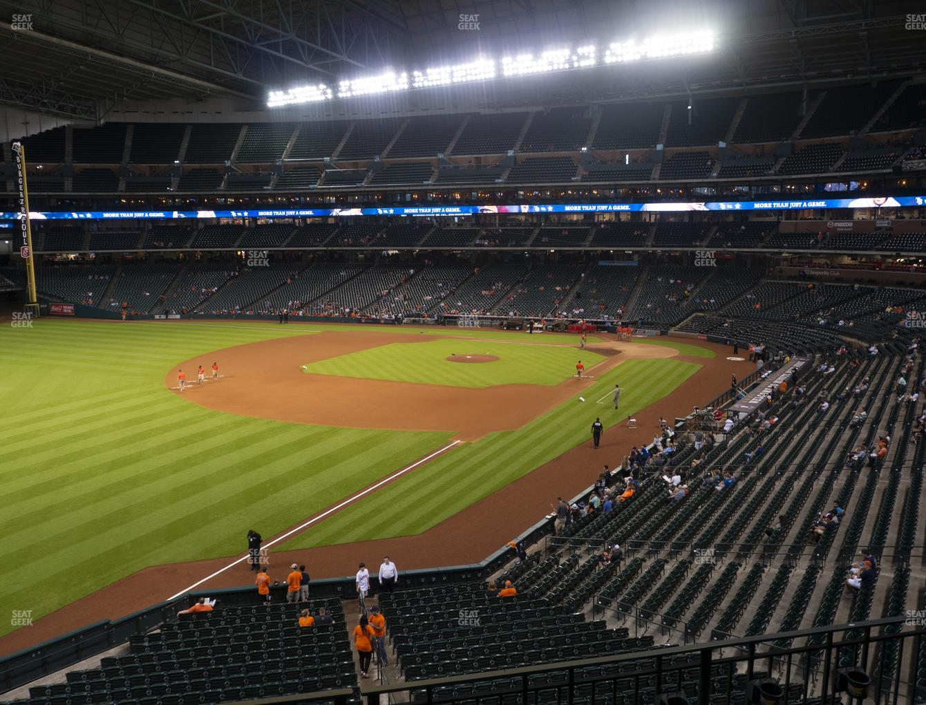 Houston Astros at Minute Maid Park Section 206 View