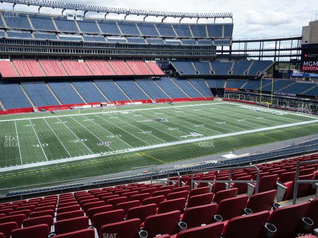 Gillette Stadium Section Club 35 view