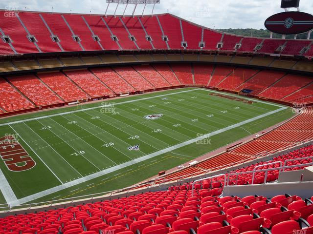 Arrowhead Stadium Section 329 view