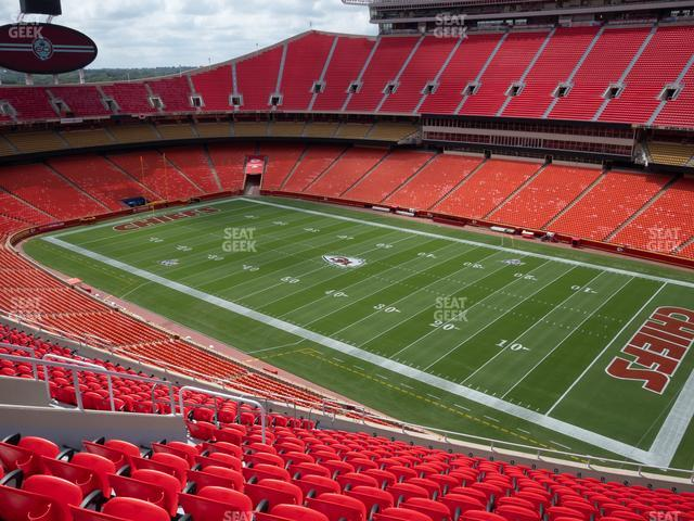 Arrowhead Stadium Section 342 view