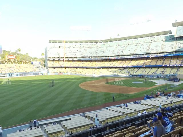 Dodger Stadium Loge Box 155 view