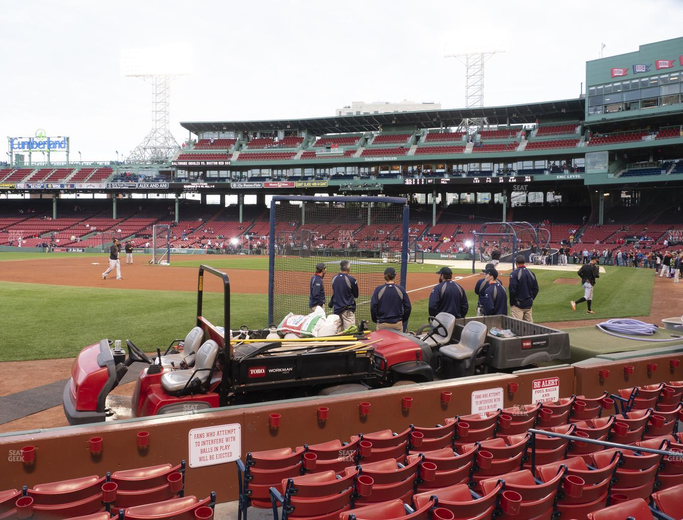 Boston Red Sox at Fenway Park Field Box 78 View