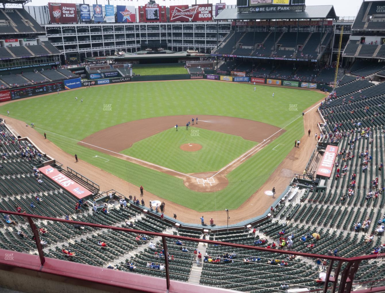 Texas Rangers at Globe Life Park Section 325 View