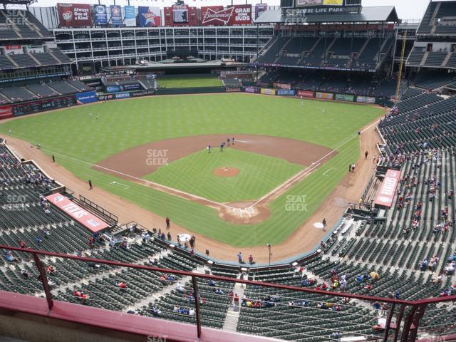 Globe Life Park Section 325 view