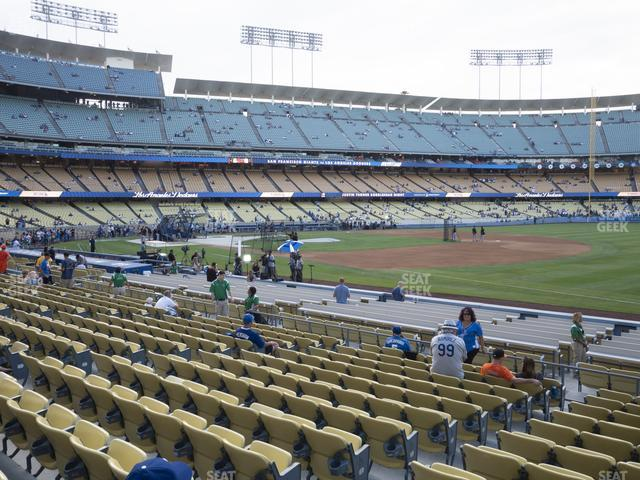 Dodger Stadium Field Box 36 view