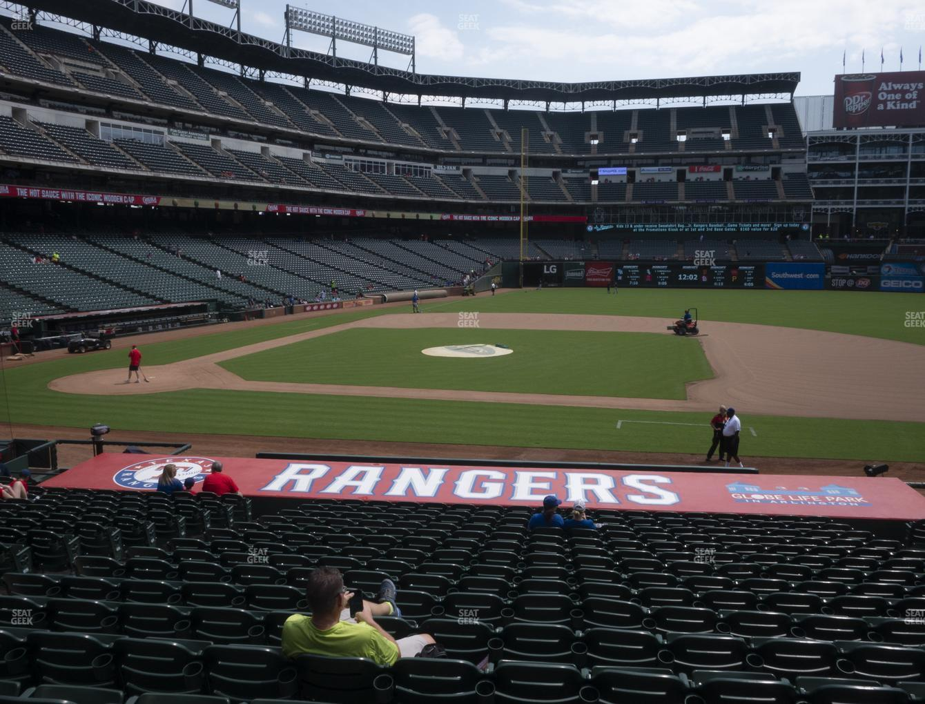 Texas Rangers at Globe Life Park Section 33 View