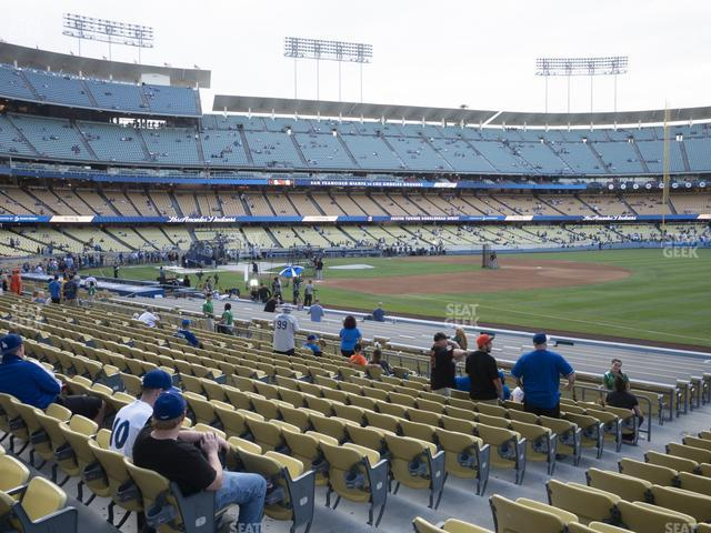 Dodger Stadium Field Box 38 view