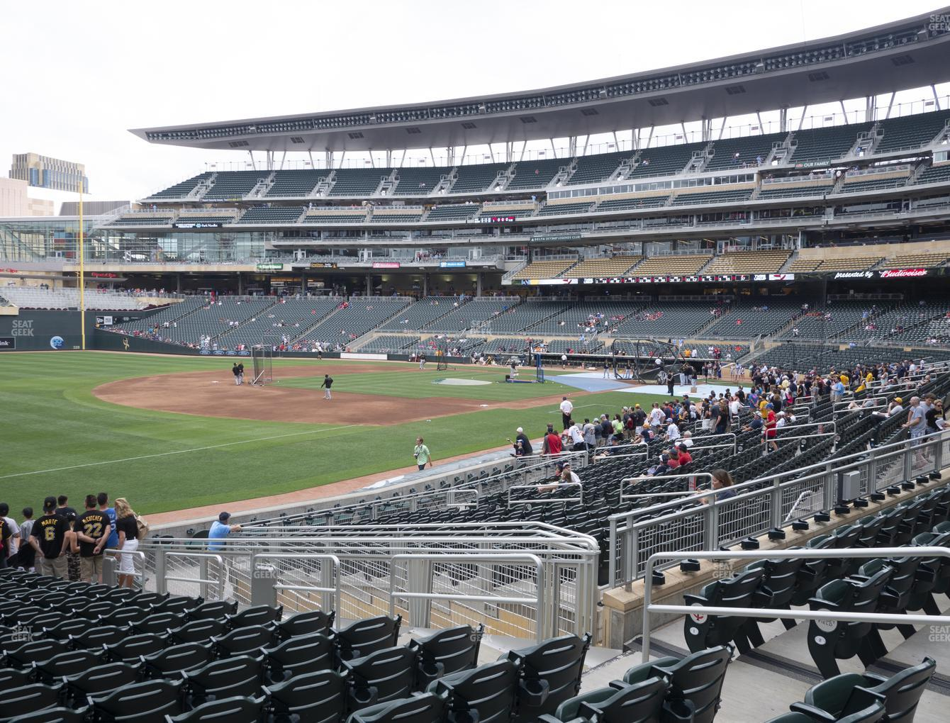 Target Field Section 124 Seat Views