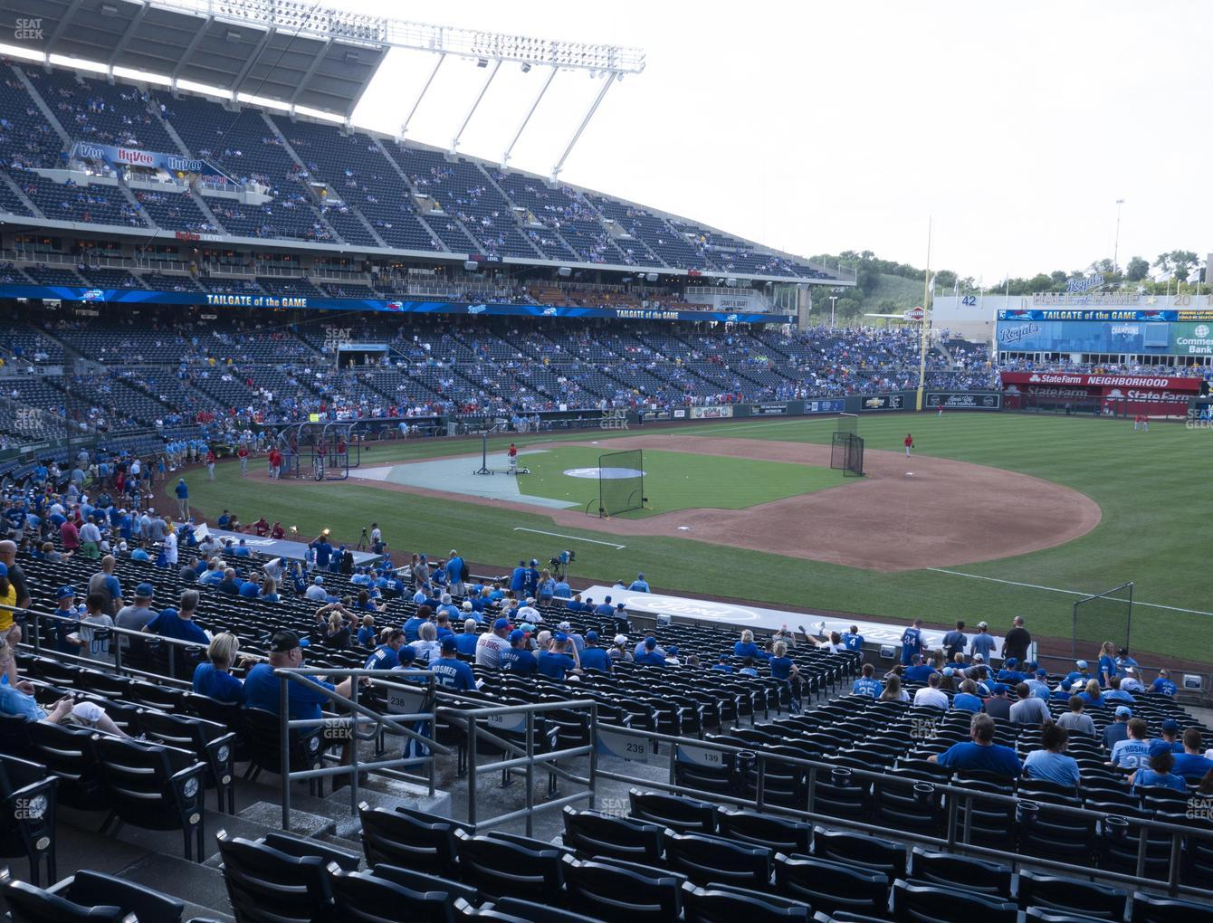 Kansas City Royals at Kauffman Stadium Section 239 View