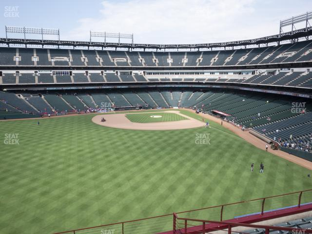 Globe Life Park Section 201 view