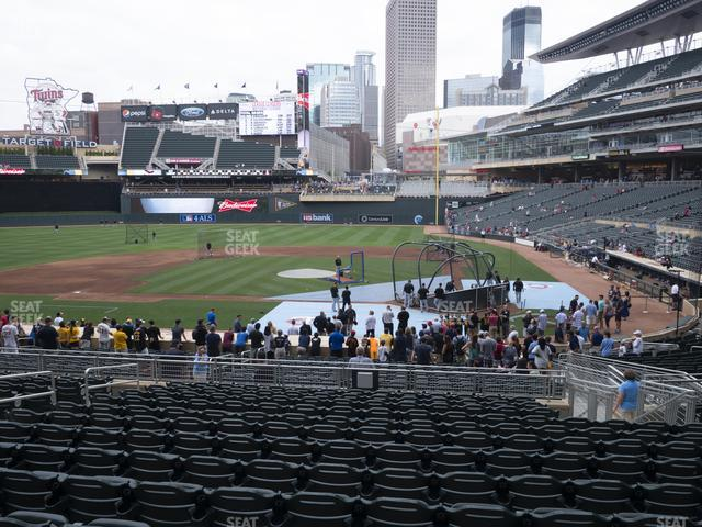 Target Field Section 118 view