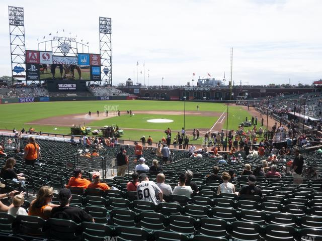 Oracle Park Section 119 view
