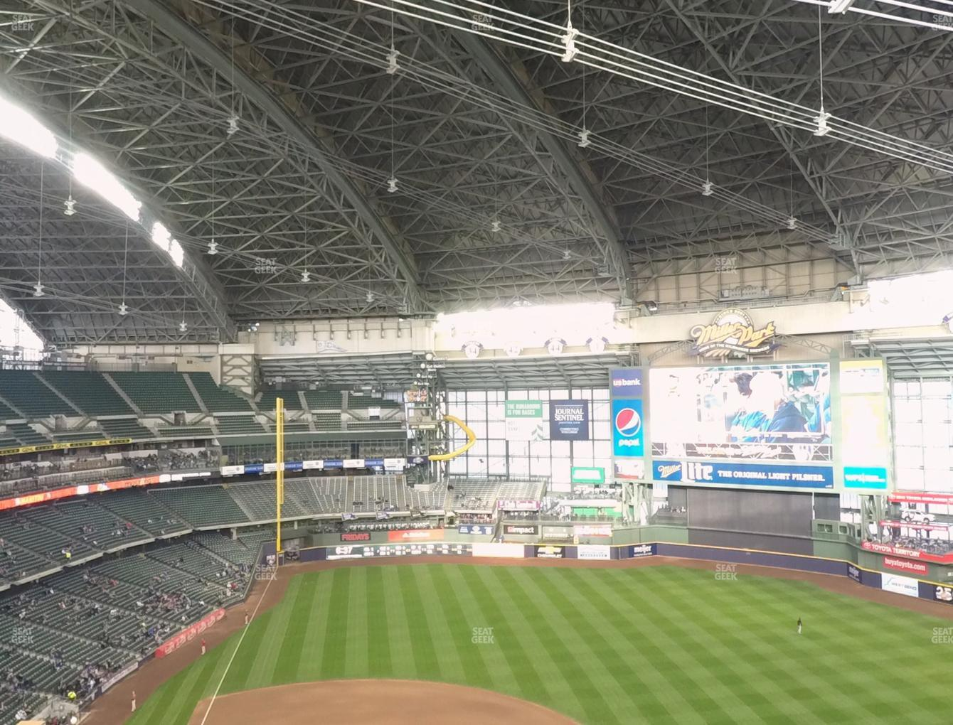 Milwaukee Brewers at Miller Park Section 416 View