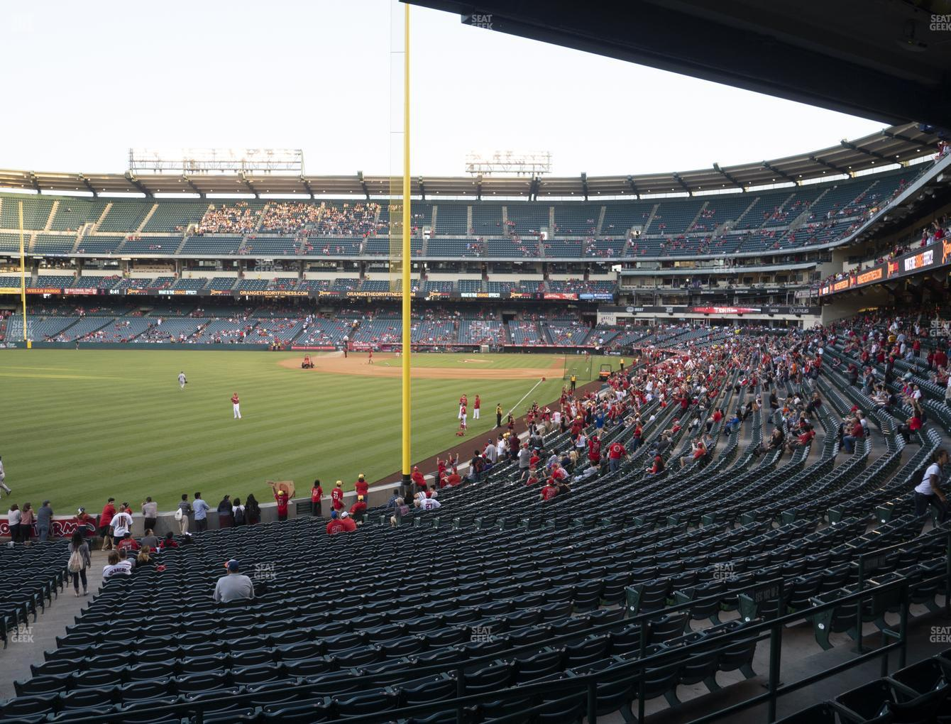 Los Angeles Angels at Angel Stadium of Anaheim Section 202 View