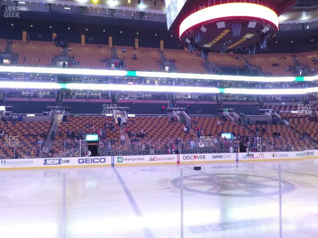TD Garden Section Loge 13 view