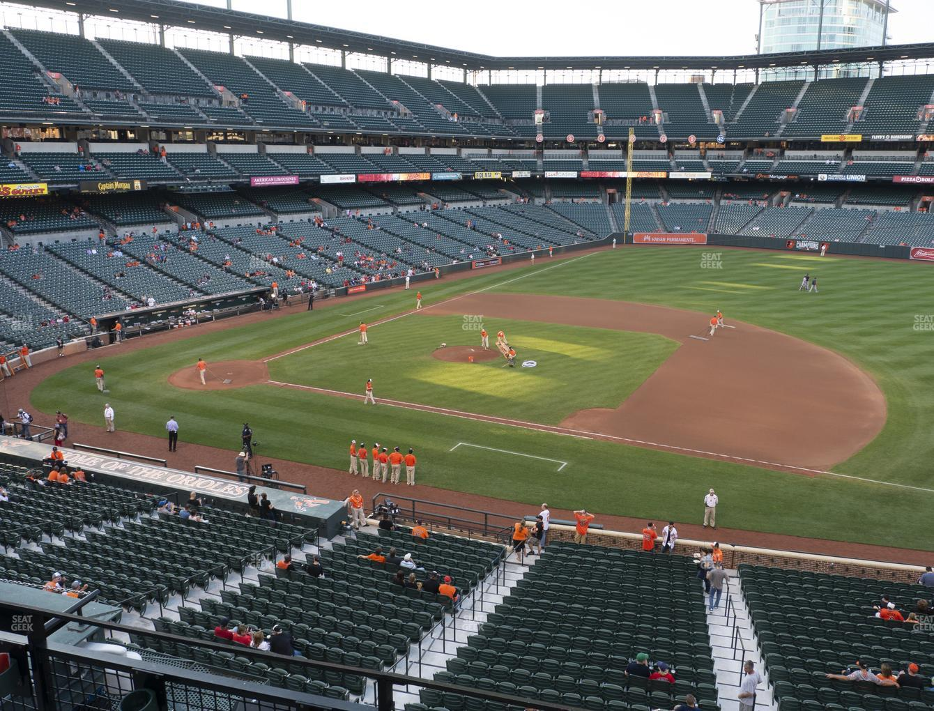 Baltimore Orioles at Oriole Park at Camden Yards Section 218 View
