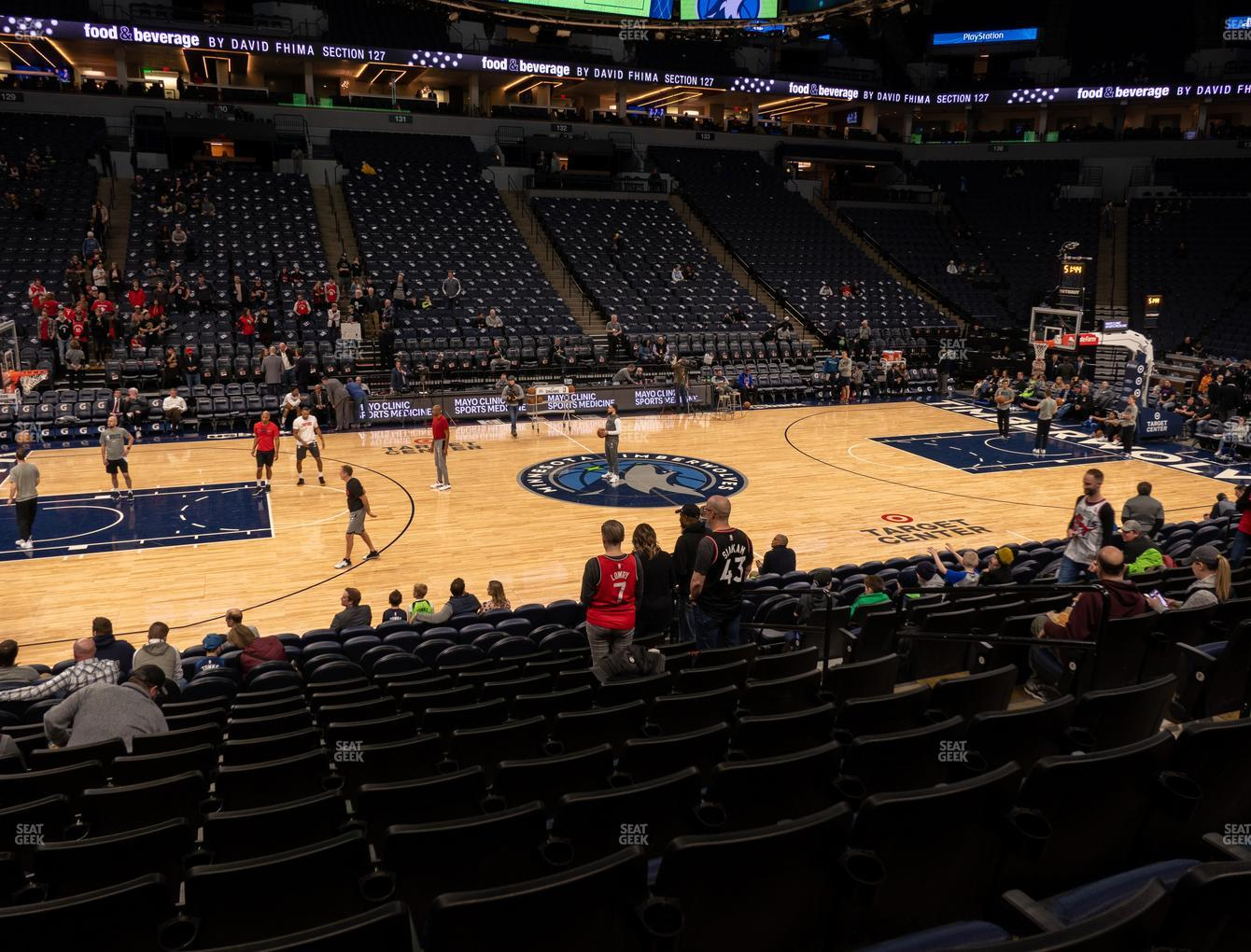 Minnesota Lynx at Target Center Section 112 View